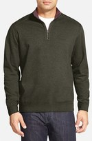 Tommy Bahama Men's Flip Side Reversible Quarter Zip Twill Pullover