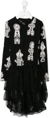 Nununu printed tutu dress