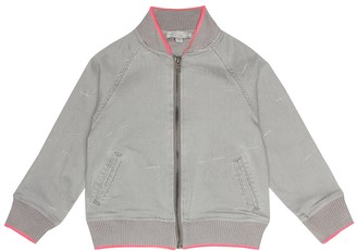 Stella McCartney Kids Cotton-blend denim bomber jacket