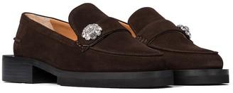 Ganni Jewel suede loafers