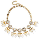 Erickson Beamon Future Shock Gold-plated, Faux Pearl And Swarovski Crystal Necklace - one size