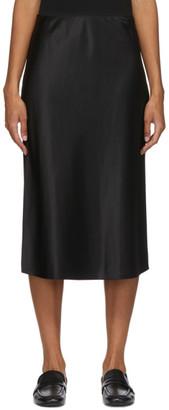 Joseph Black Silk Isaac Skirt