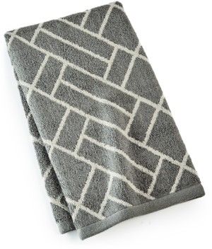 """Hotel Collection Block Geo Cotton 16"""" x 30"""" Hand Towel, Created for Macy's Bedding"""