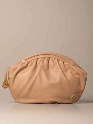 Rodo Clutch Round Envelope Clutch Bag In Genuine Lambskin