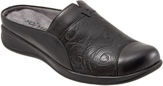 SoftWalk Leather Slip-On Mules - San MarcosWoven
