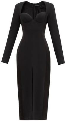 David Koma Sweetheart-neckline Cady Dress - Black