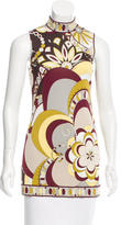Emilio Pucci Floral Print Sleeveless Top