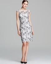 Monique Lhuillier Dress - Cap Sleeve Illusion Contrast Lace