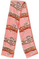 Oscar de la Renta Vintage Silk Scarf