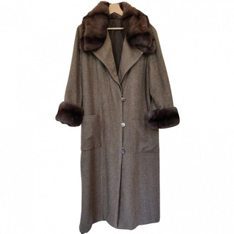 Fendi Beige Mink Coat for Women Vintage
