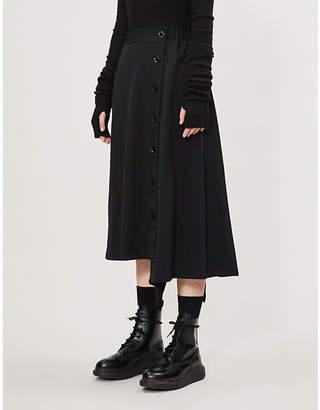 Y's Ys High-waist A-line wool skirt