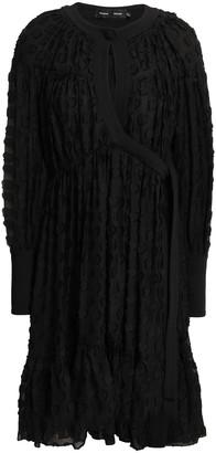 Proenza Schouler Wrap-effect Fil Coupe Silk And Cotton-blend Chiffon Dress
