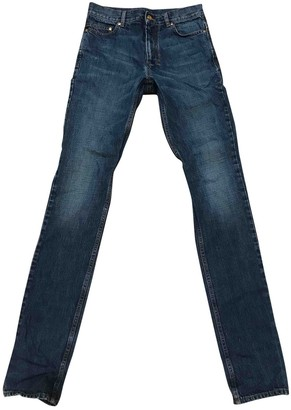 Saint Laurent Blue Cotton Jeans