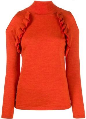 Chiara Bertani cold shoulder knitted top