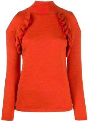 Chiara Bertani Cold Shoulder Knitted Top