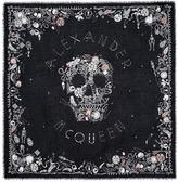 Alexander McQueen 'Jewelled Skull' print silk-modal scarf