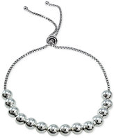 Giani Bernini Beaded Box-Link Adjustable Bracelet in Sterling Silver, Only at Macy's