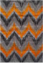 "Dalyn Modern Abstracts Chevron Tangerine 9'6"" x 13'2"" Area Rug"