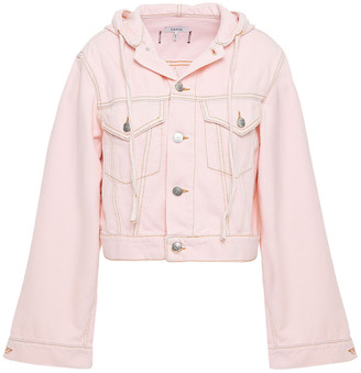 Ganni Denim Hooded Jacket