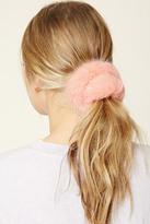 Forever 21 Faux Fur Hair Scrunchie