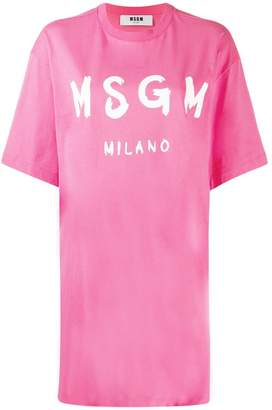 MSGM logo print oversized T-shirt