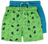 George 2 Pack Assorted Swim Shorts