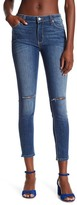 Just USA High Rise Slit Knee Skinny Jeans