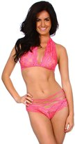 Simplicity See Thru Lace Babydoll Thong Bands Ladies Lingerie ̈C Red