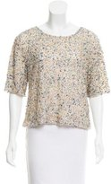 Cynthia Rowley Sequined Short Sleeve Top w/ Tags