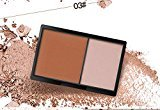 Face Powder, Sunmy Compact Cream Foundation Powder Natural Organic Matte Cosmetic Powder 2 Colors
