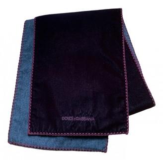 Dolce & Gabbana Burgundy Velvet Scarves