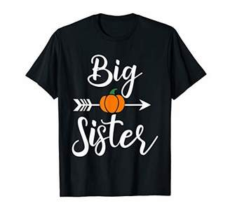 Big Sister Halloween Baby Pumpkin Announcement Gift T-Shirt