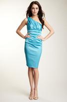 Suzi Chin 39086W One Shoulder Pleated Cocktail Dress