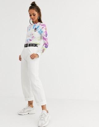 Santa Cruz Nolan wide leg chino trousers in white