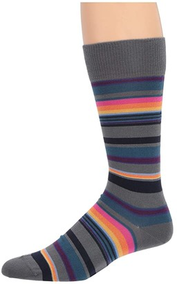 Paul Smith Horizon Sock (Grey) Men's Crew Cut Socks Shoes