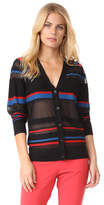 Diane von Furstenberg V Neck Button Down Cardigan