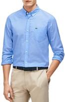 Lacoste Cotton Voile Slim Fit Button-Down Shirt