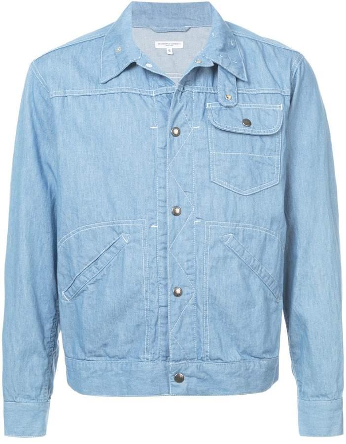 Engineered Garments stitch detail shirt jacket