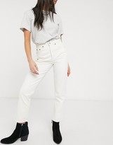 Topshop Editor straight leg jeans in off white