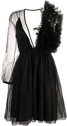 Alchemy Asymmetric Ruffled-Detail Dress