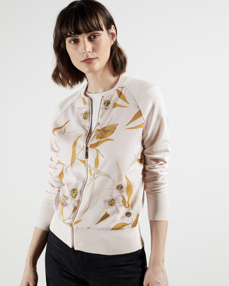 Ted Baker RAYNIAA Cabana zip through bomber jacket