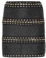 Balmain Whipstitched tweed miniskirt