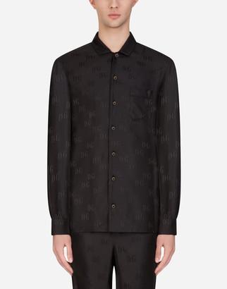 Dolce & Gabbana Silk Jacquard Pajama Shirt