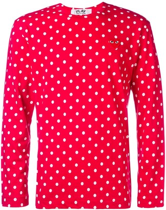 Comme des Garcons long sleeve polka-dot T-shirt