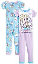AME 4-Pc. Frozen Cotton Pajama Set, Toddler Girls (2T-5T)