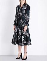 Erdem Baxter floral jacquard coat