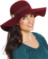 Nine West Hat, Floppy Felt Hat with Feather Band
