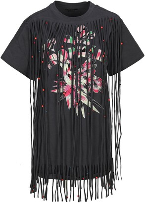 Isabel Marant Fringed T-Shirt Dress