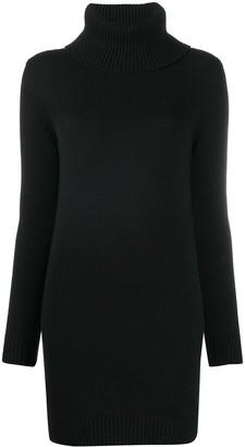 Saint Laurent Turtleneck Knitted Jumper Dress