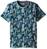 Ted Baker Men's Twistay-Tree and Parrot Printed T-Shirt-Modern Slim Fit